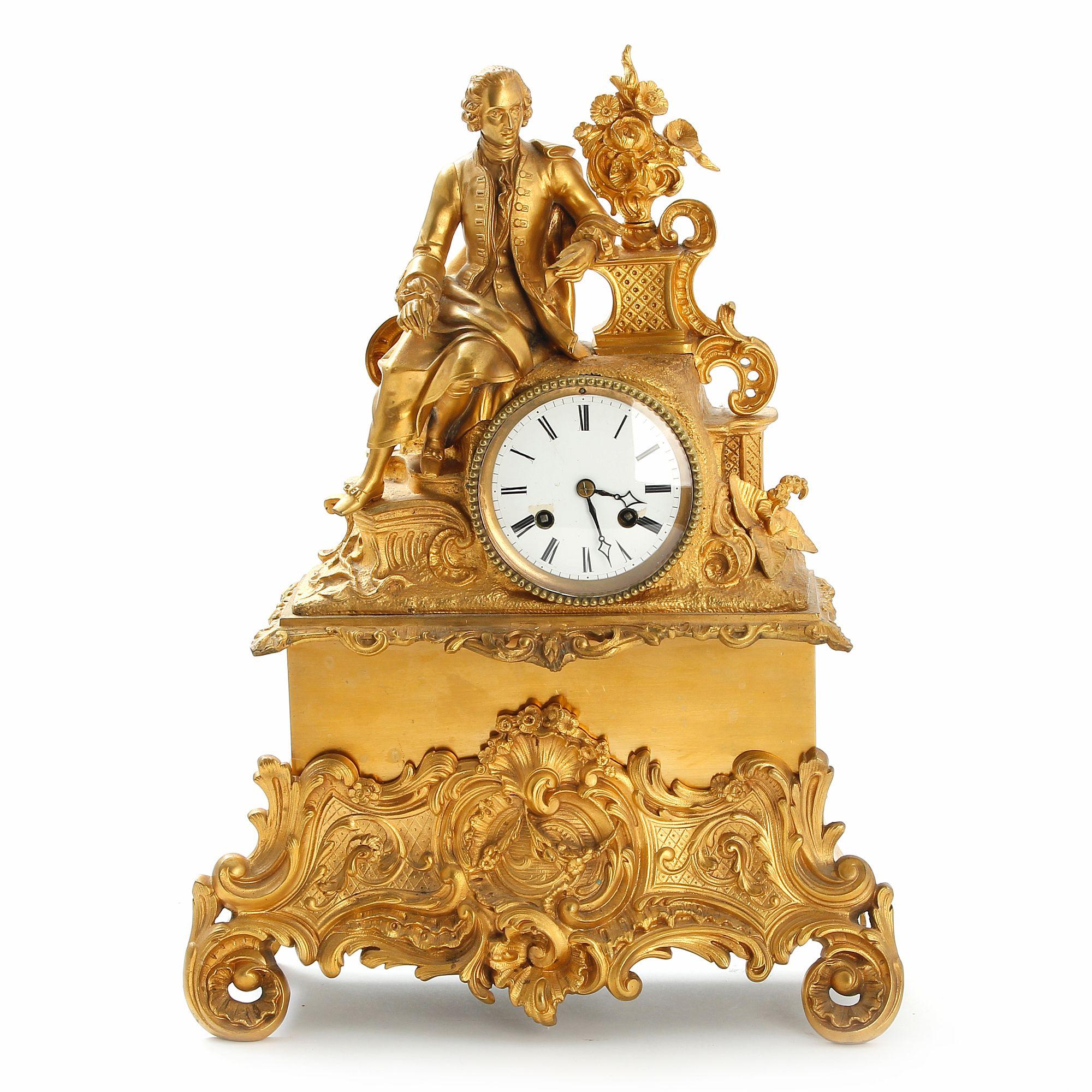 Каминные часы из бронзы франция 19 век
