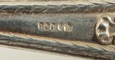 Обеденные ложки и вилки (3 пары) серебро. Германия