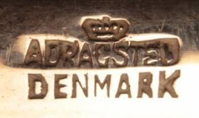 Маленькое блюдечко с монетой 2 кроны 1875г, Дания