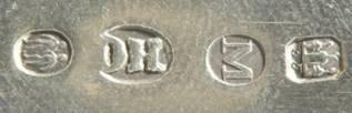 Старинная лопатка для сервировки рыбы, серебро.