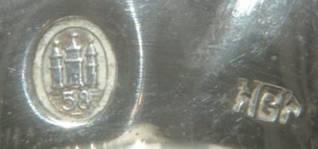Серебряные солонка и перечница из Дании. С 1 РУБля