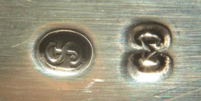 6 десертных вилок/Серебро/Дания/дизайн Олимпия.