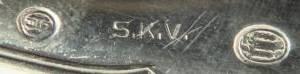 Серебряные ложечка и вилочка. Дания/Рита/С 1 РУБля