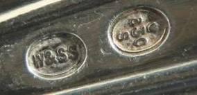 Десертные ложка,вилка и нож./Дания/Серебро/С 1 РУБ